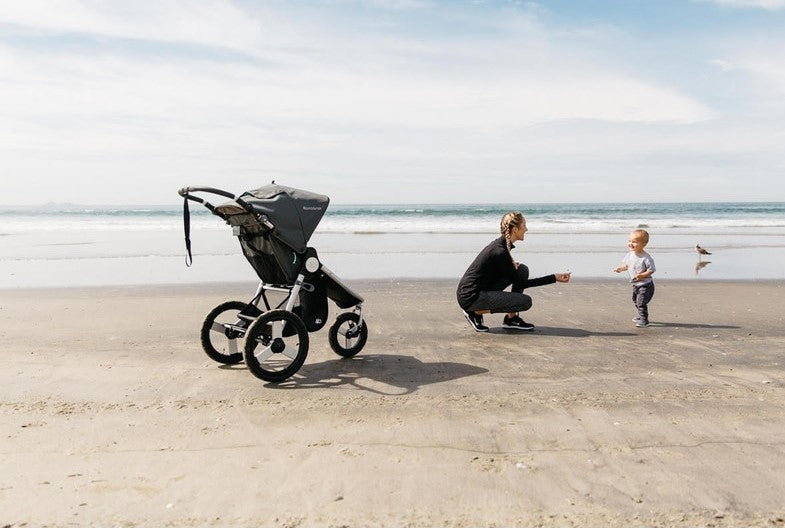 BUMBLERIDE 2020 Speed Stroller - Mother and Child Jogging On Beach | ANB Baby