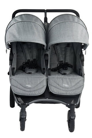 VALCO BABY Neo Twin Double Stroller Grey Marle Sale | ANB Baby