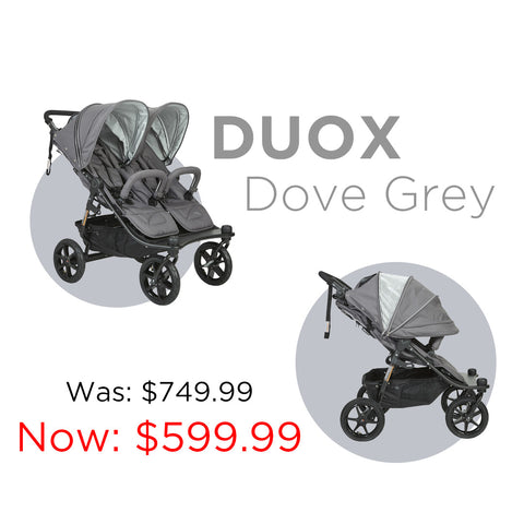 VALCO BABY Tri Mode Duo X Dove Grey Double Stroller Sale | ANB Baby