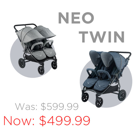 VALCO BABY Neo Twin Double Stroller Sale | ANB Baby