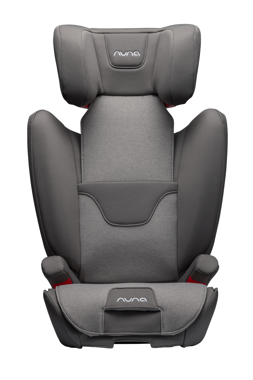 NUNA AACE 2-in-1 Booster Car Seat Front View - Granite | ANB Baby