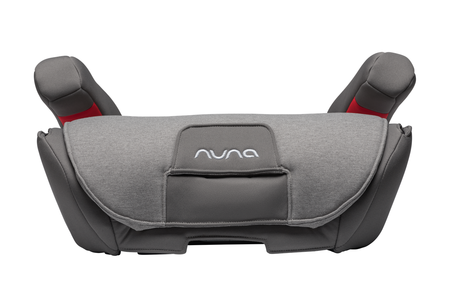 NUNA AACE 2-in-1 Booster Car Seat Front View No Back  - Granite | ANB Baby