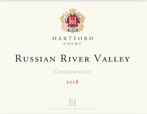 Hartford Court  Chardonnay  Russian River Valley Sonoma, CA 2018