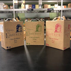 Three-Pack Feature: Domaine Le Clos des Lumières 3.0 L Box Assortment-Red, White, & Rosé