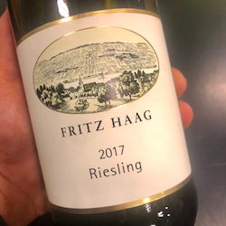 Fritz Haag Riesling  Mosel, Germany 2017