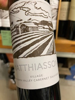 Matthiasson Winery Cabernet Sauvignon Village #2 Napa Valley, CA 2018