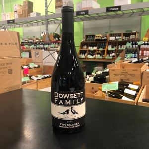 "Dowsett Family Winery ""Two Magpies"" Pinot Noir  Becklin Vineyards Willamette Valley, Oregon 2017"