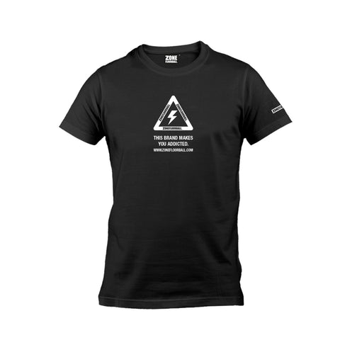 T-shirt WARNING black