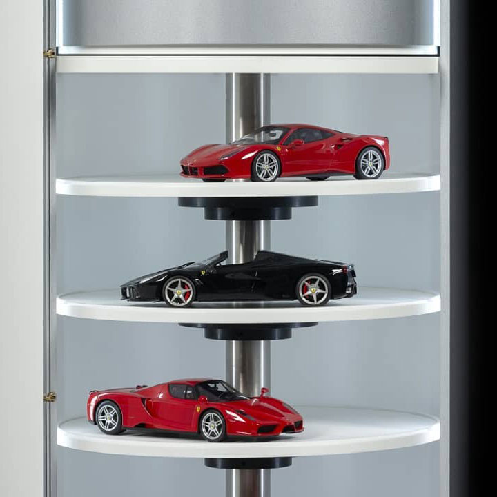 Model Car Rising Display Cabinet - (1:18 & 1:43 scale models)