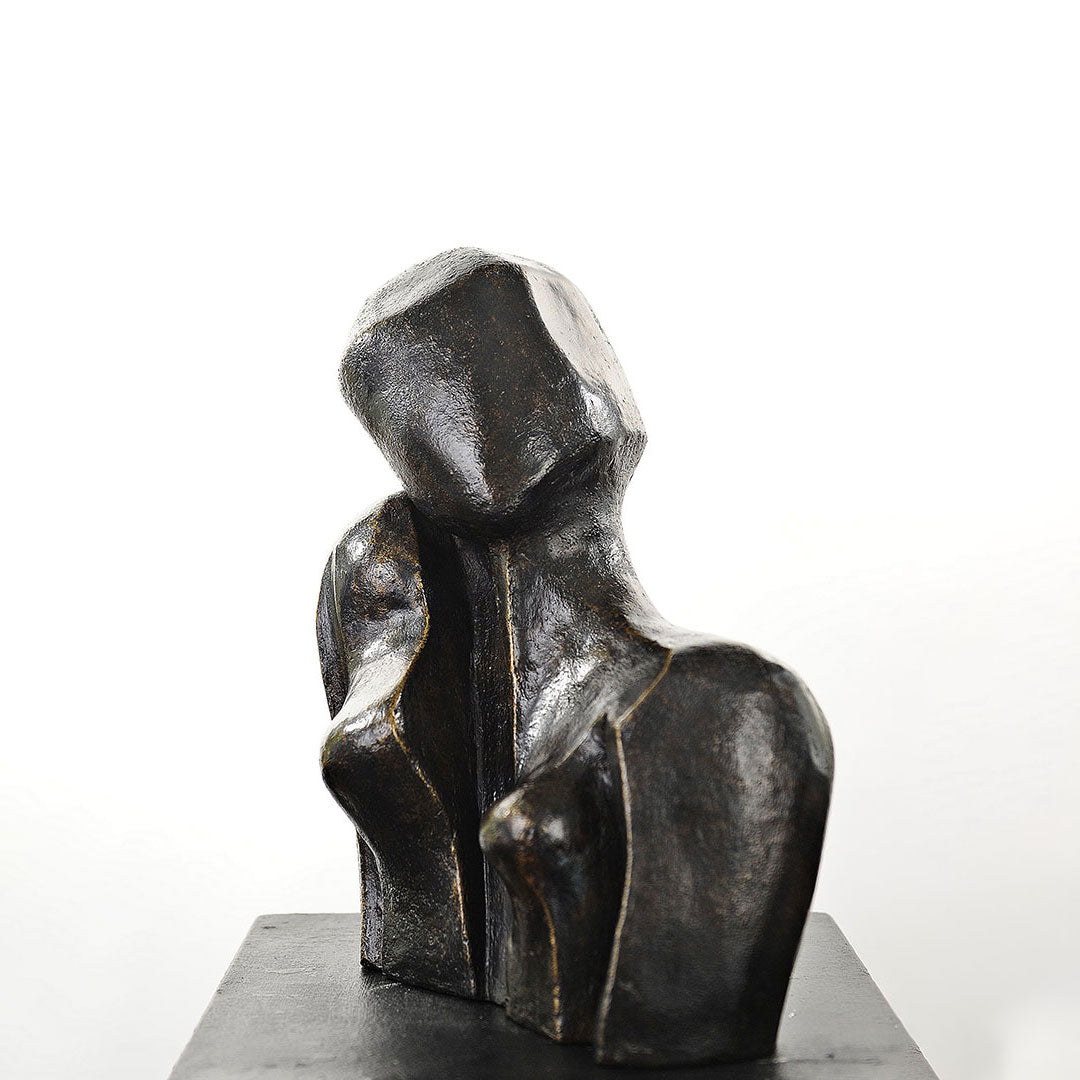 La Rèveuse Bronze Sculpture By Christiane Chiavazza