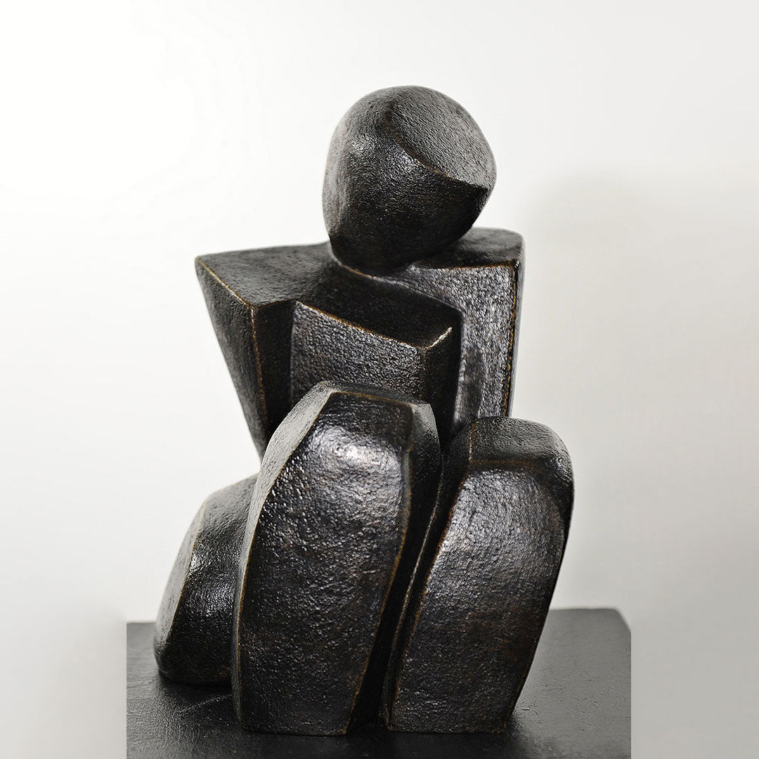 Lassitude - Bronze Sculpture By Christiane Chiavazza