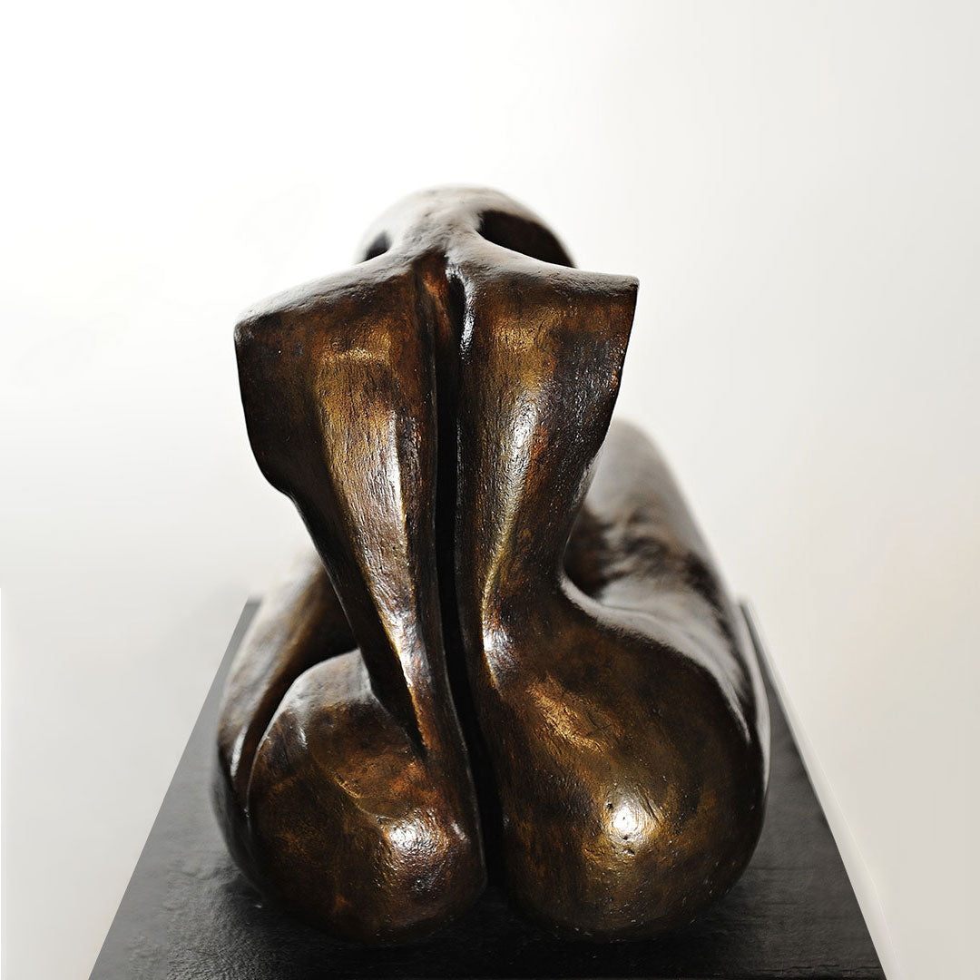Le Chagrin Bronze Sculpture By Christiane Chiavazza