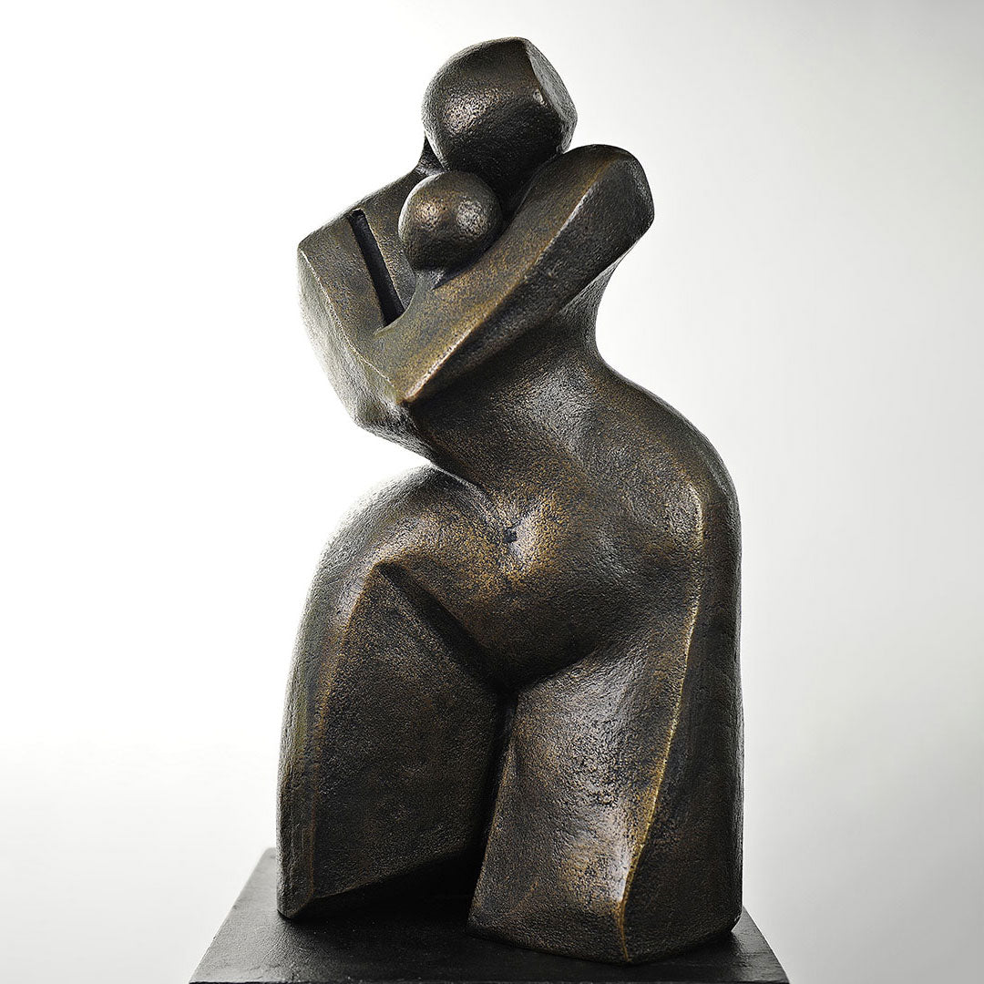 Maternelle Bronze Sculpture By Christiane Chiavazza