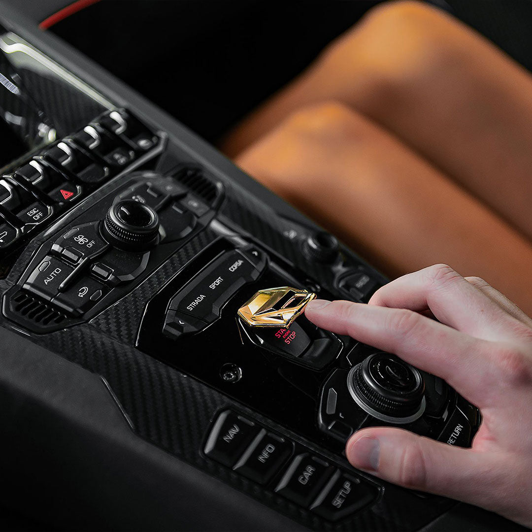 Lamborghini Aventador - Gold Ignition Switch Cover
