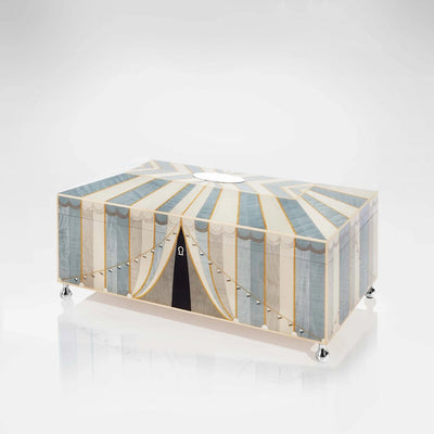 Linley Circus Jewellery Box Blue - Luxury Wooden Gift Engraved