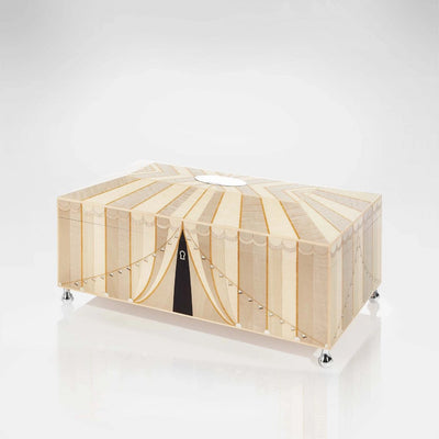 Linley Circus Jewellery Box Cream - Luxury Wooden Gift Engravable