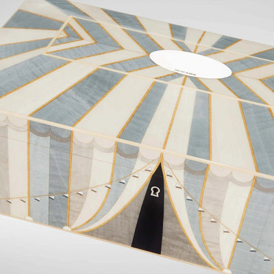 Linley Circus Jewellery Box Blue - Luxury Wooden Gift Engraving Available