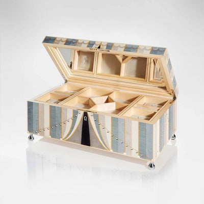 Linley Circus Jewellery Box Blue - Luxury Gift Engraved