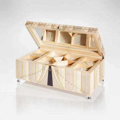 Linley Circus Jewellery Box Cream - Luxury Wooden Gift Engraved