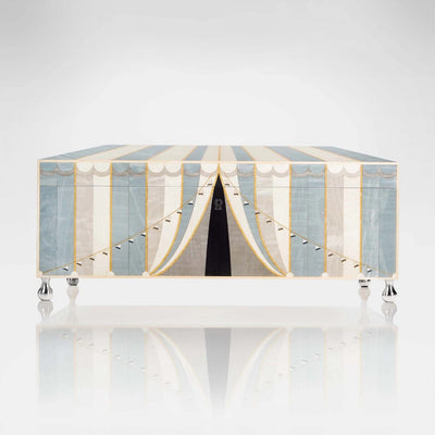 Linley Circus Jewellery Box Blue - Luxury Wooden Gift Engravable