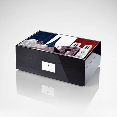 Linley Paris Skyline Box -  Luxury Wooden Gift Humidor/Jewellery Engraved