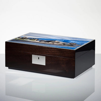 Linley Sydney Skyline Box - Luxury Wooden Humidor/Jewellery Box