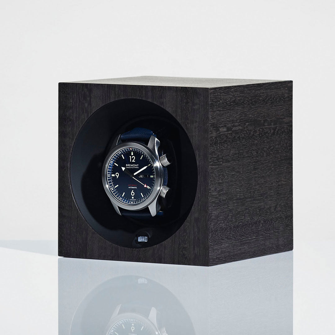 Linley Henley Watch Winder - Luxury Wooden Dark Grey Eucalyptus