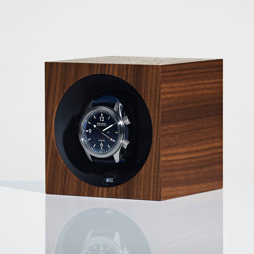Linley Henley Watch Winder - Luxury Wooden Walnut