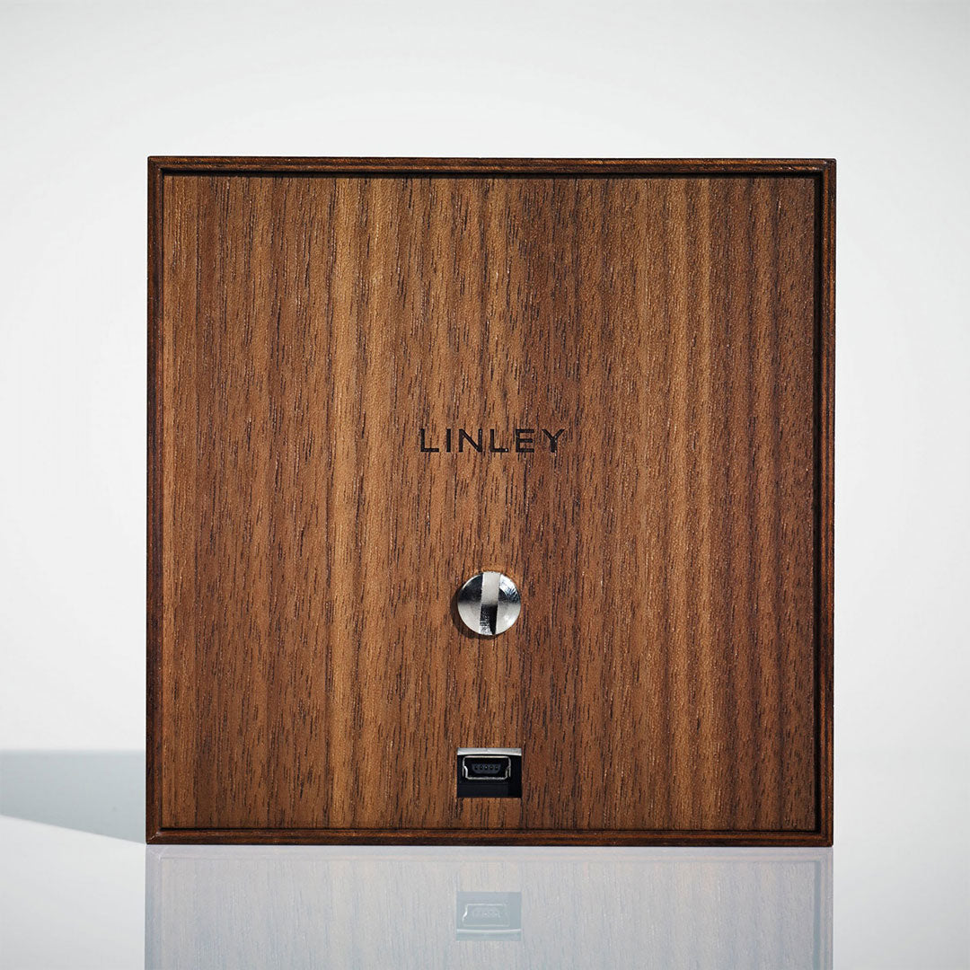 Linley Henley Watch Winder - Luxury Wooden Walnut Back Box