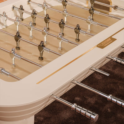 Stadium Luxury Foosball Table by Vismara Design Gold and Silver