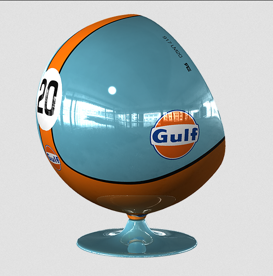 Racing & Emotion Art Ball Chair - 917 LM20 Gulf