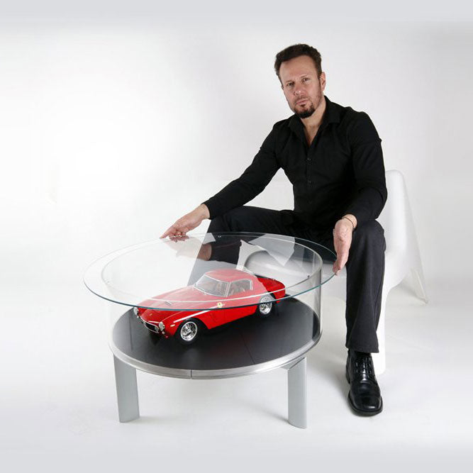 Rotating Glass Table Display For Model Cars