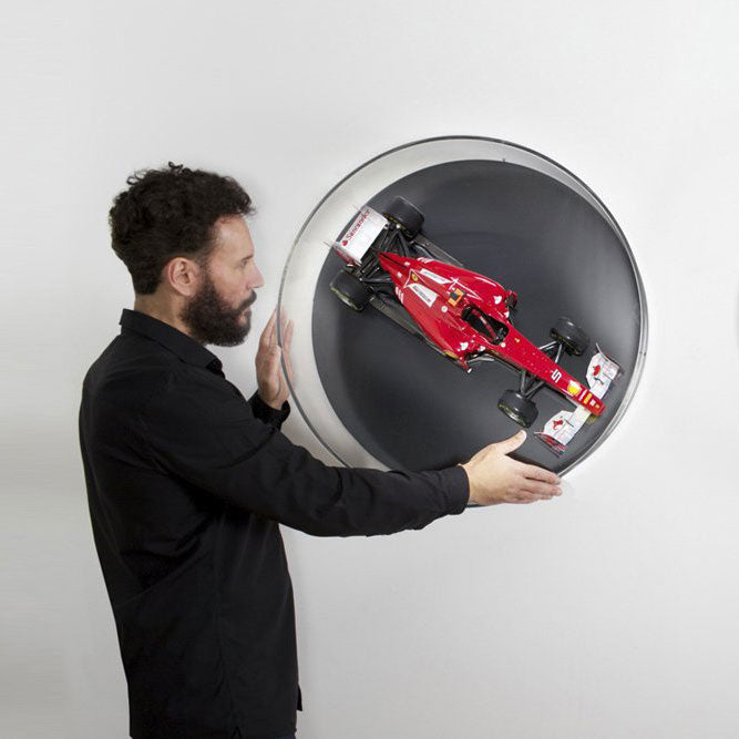 Rotating Glass Wall Display For Model Cars