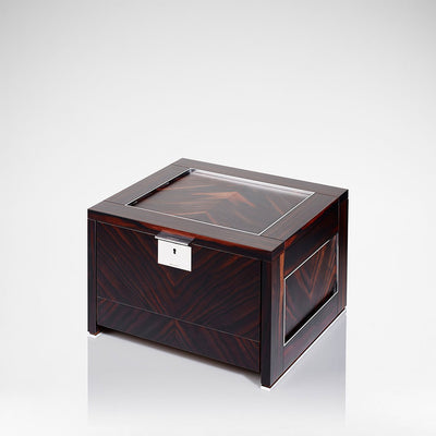 Linley Optima Box - Luxury Wooden Macassar Ebony Keepsake Engraved