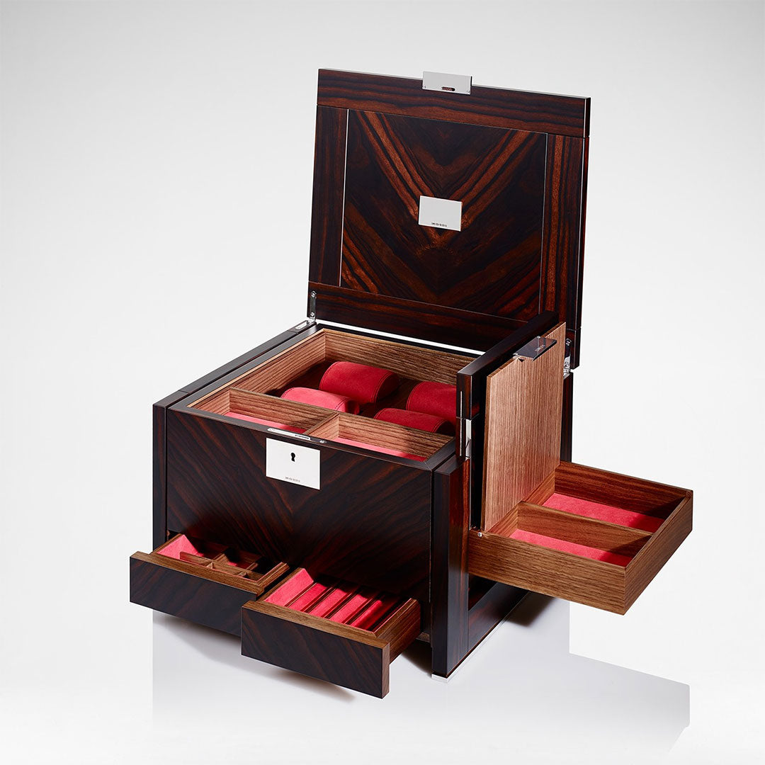 Linley Optima Box - Luxury Wooden Macassar Ebony Keepsake