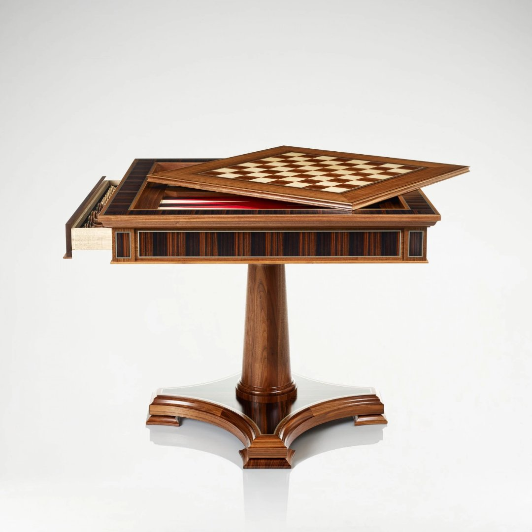 Linley Classic Games Table - Walnut Standing