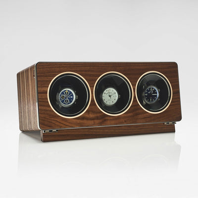 Linley Riviera Triple Watch Winder - Luxury Wooden Storage