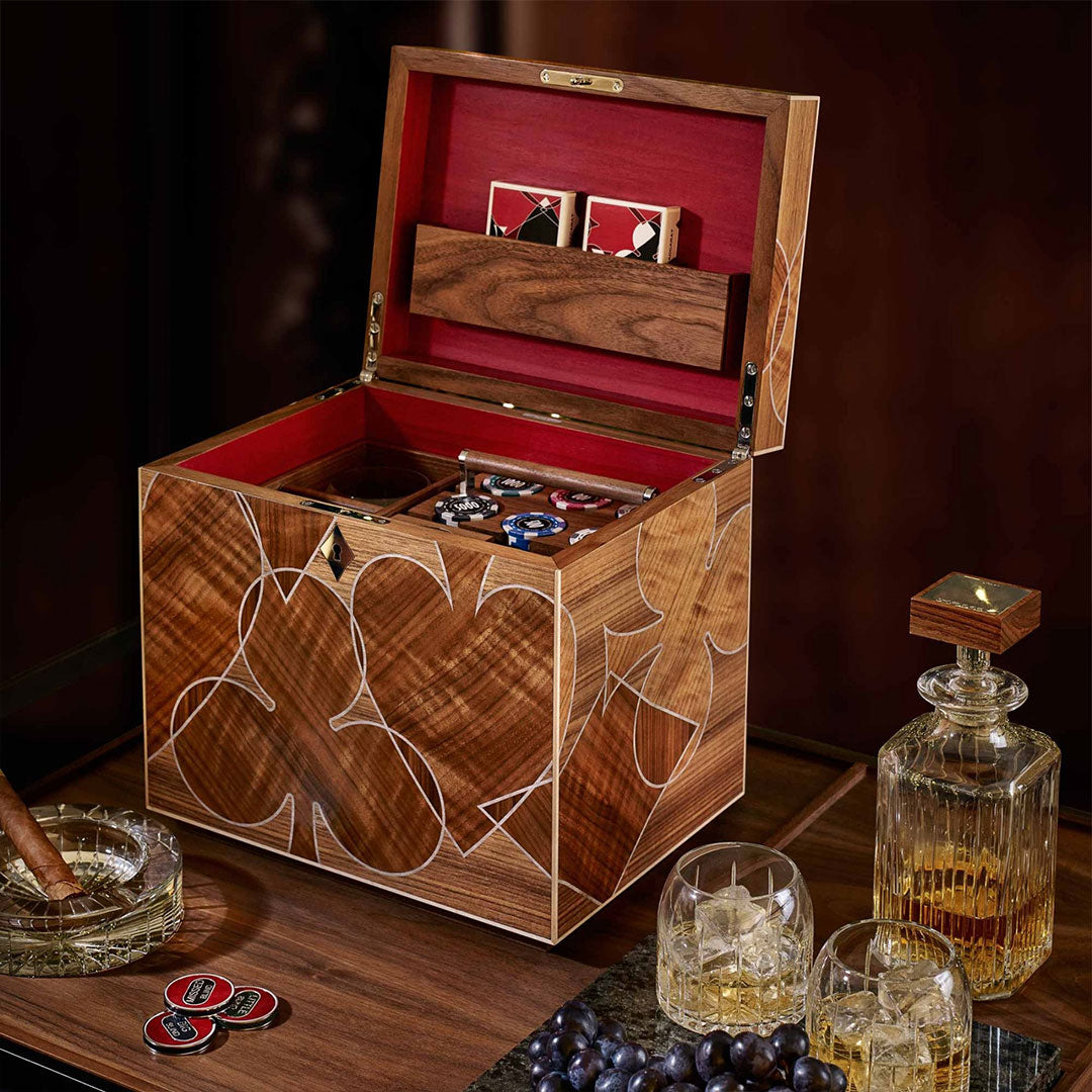 Linley Vice Box - Luxury Wooden Storage Engraved Whisky Gift