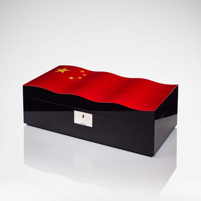 Linley China Wavy Flag Keepsake Box - Closed