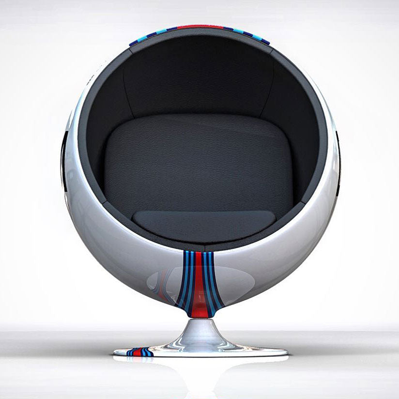 Racing & Emotion Art Ball Chair - Porsche Martini Racing