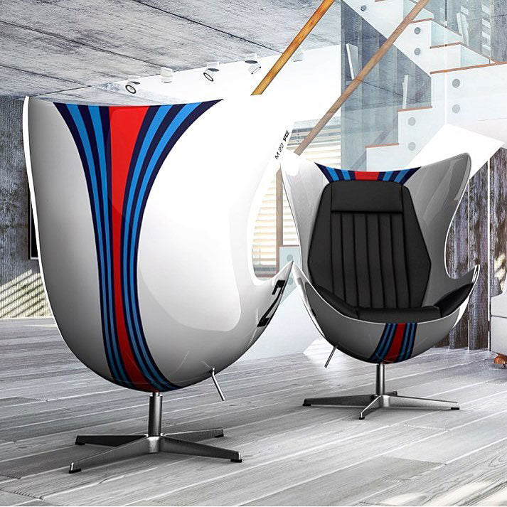 Racing & Emotion Art Egg Chair - Porsche Martini Racing