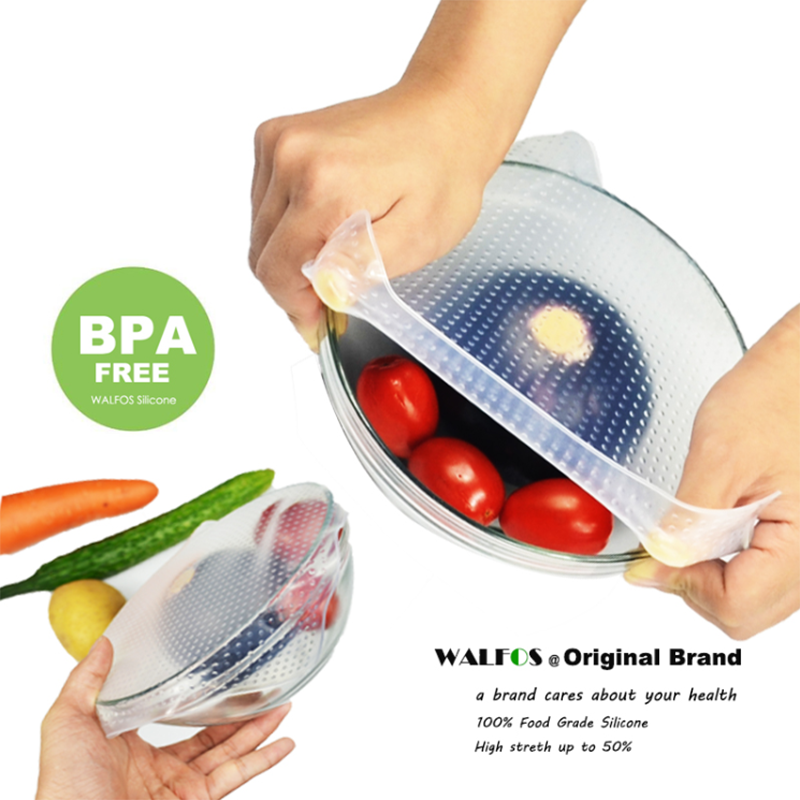 Reusable plastic wrap - A One Size Fits ALL Super Lid