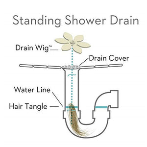 Bathroom Shower Drain Wig Chain