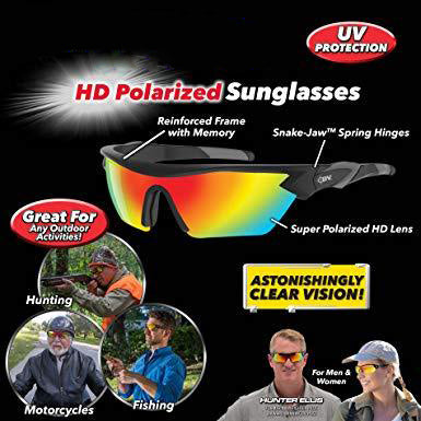 Battle Vision HD Polarized Sunglasses, UV Block Sunglasses Protect Eyes & Gives Your Vision Clarity