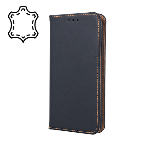 Genuine leather cover til iPhone 11 Pro Max, sort - coveryourphone.dk