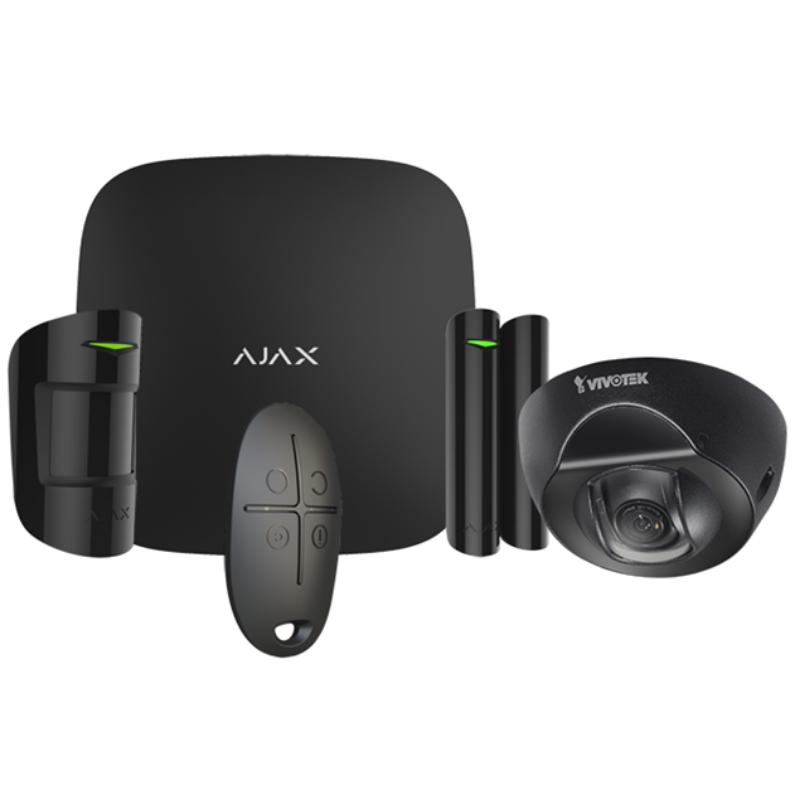 AJAX HUBKIT en Full HD wedge Dome camera met onzichtbare IR