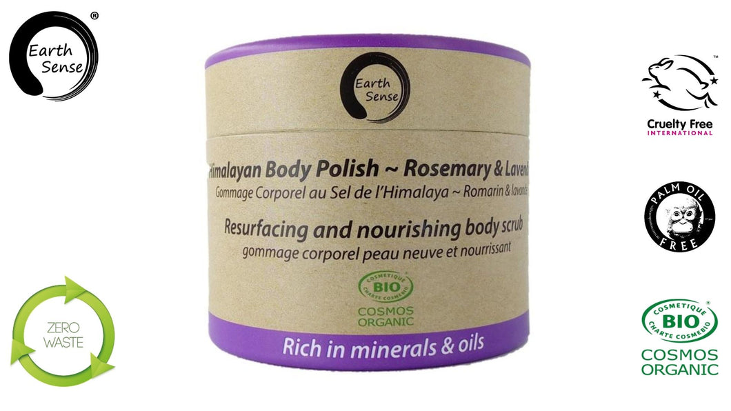 Organic Certified Body Polish Exfoliant - Lavender & Rosemary 200ml