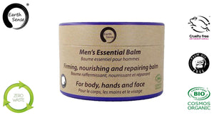 Organic Men's Essential Balm with Sandalwood 100ml - For Face, beard, hands & whole body