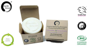 Organic Balancing Solid Shampoo - Lavender & Rosemary - Dry & all Hair Types 60g