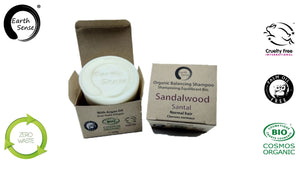 Organic Balancing Solid Shampoo - Sandalwood - Normal & all Hair Types 60g